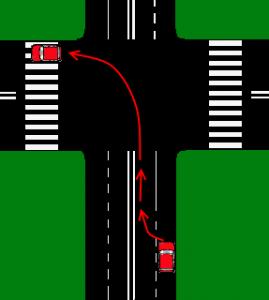 Zmiana kierunku jazdy w lewo