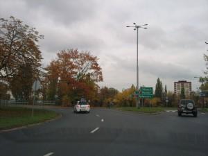 Plac Pokoju Toruńskiego - Toruń - zjazd ulica Sobieskiego