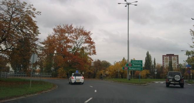Plac Pokoju Toruńskiego – Toruń – zjazd ulica Sobieskiego