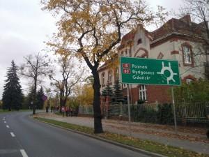 Przejazd przez rondo Plac Pokoju Toruńskiego Na Gdańsk