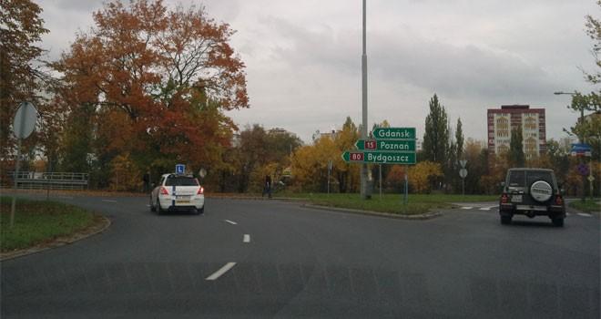 Rondo Pokoju Toruńskiego – Toruń – skręt na Gdańsk