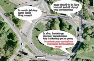 Toruń zawracanie na rondzie Placu pokoju Toruńskiego z Sobieskiego