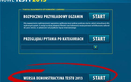 Nowe testy na prawo jazdy 2013 online