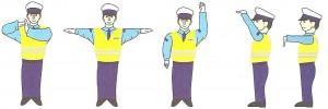 Sygnały wydawane przez kierującego ruchem drogowym