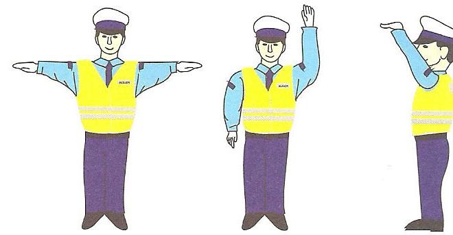 Gesty osoby kierującej ruchem drogowym