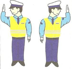 Polecenie osoby kierującej ruchem - policjanta