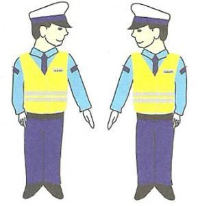 Gesty, polecenie oboby uprawnionej do kierowania ruchem drogowym