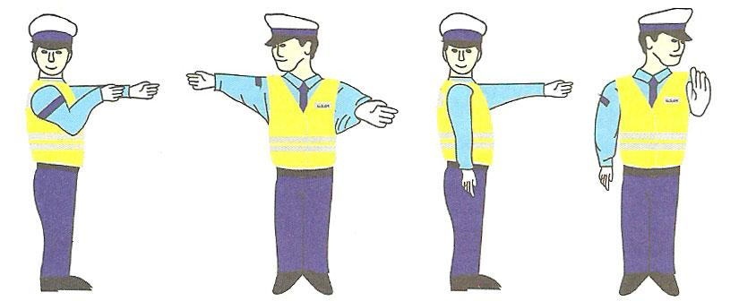 Kierujący ruchem drogowym-sygnały i polecenia
