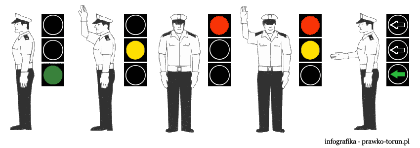 Infografikaskrót ze sygnalizacją świetlną